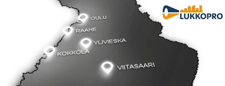 LukkoPro Oy toimipisteet